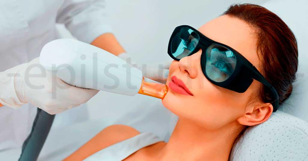 убрать волосы на лице александритовый лазер эпиляция